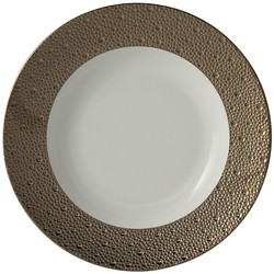 Bernardaud Ecume Platinum Rim Soup - 9 In