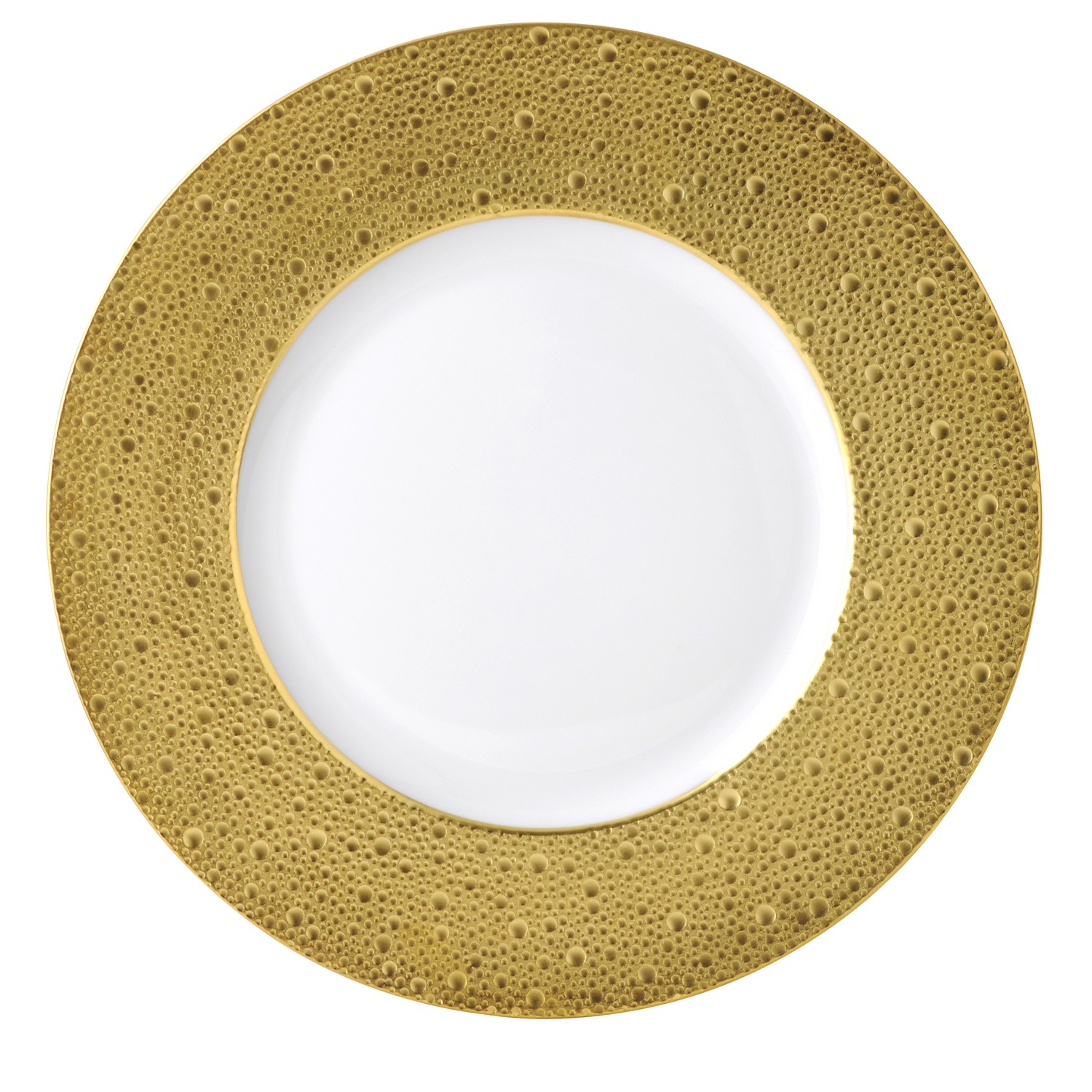 Bernardaud Ecume Gold Service Plate - 12.4 In