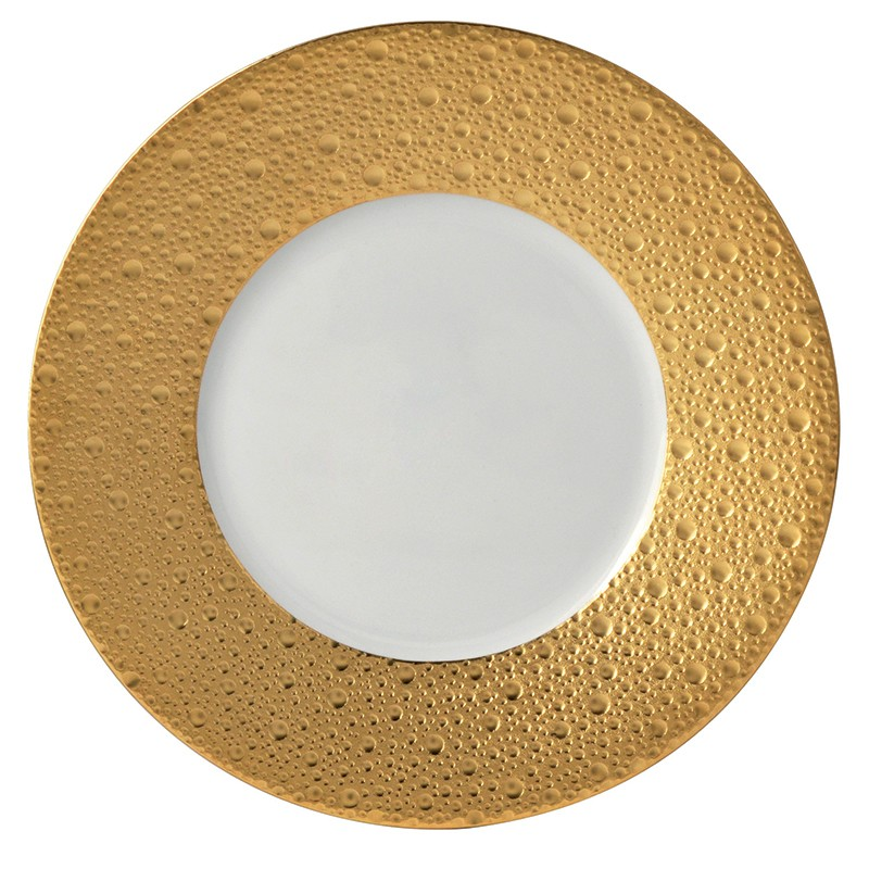 Bernardaud Ecume Gold Salad Plate - 8.3 In