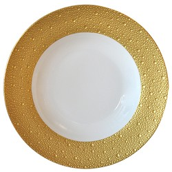 Bernardaud Ecume Gold Rim Soup - 11.6 In