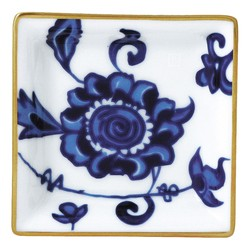 Bernardaud PRINCE BLEU SQUARE ASHTRAY- 3 inX3 in
