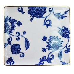 Bernardaud PRINCE BLEU RECTANGULAR TRAY- 8 inX7.5 in