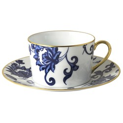 Bernardaud PRINCE BLEU BREAKFAST CUP & SAUCER - SET OF 2