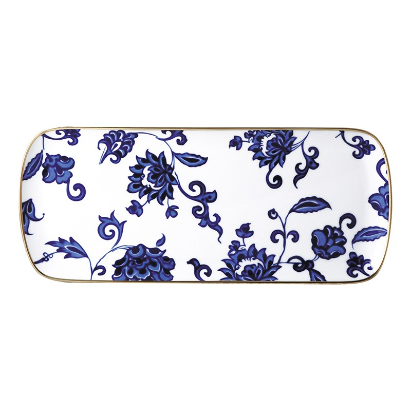 Bernardaud Prince Bleu Cake Platter Rectangular - 15 In Sp Order