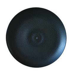 Bernardaud BULLE BLACK SAND SALAD PLATE-8.5in
