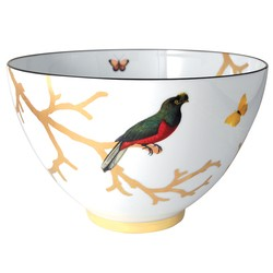Bernardaud Aux Oiseaux Deep Salad Bowl - 10.6 In