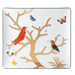 Bernardaud AUX OISEAUX RECTANGULAR TRAY 8 inX7 in