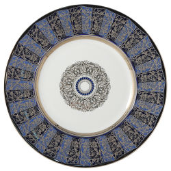 Bernardaud Eventail Blue Service Plate - 12.6 In