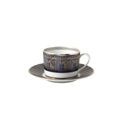 Bernardaud Eventail Blue Tea Saucer Only