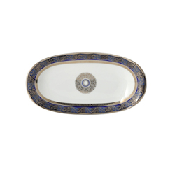 Bernardaud Eventail Blue Relish Dish