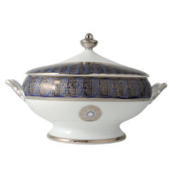 Bernardaud Eventail Blue Soup Tureen Sp Order