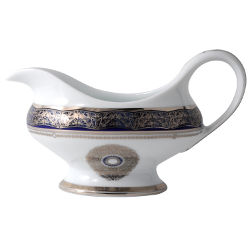 Bernardaud Eventail Blue Gravy Boat