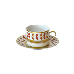 Bernardaud Constance Red Tea Saucer Only