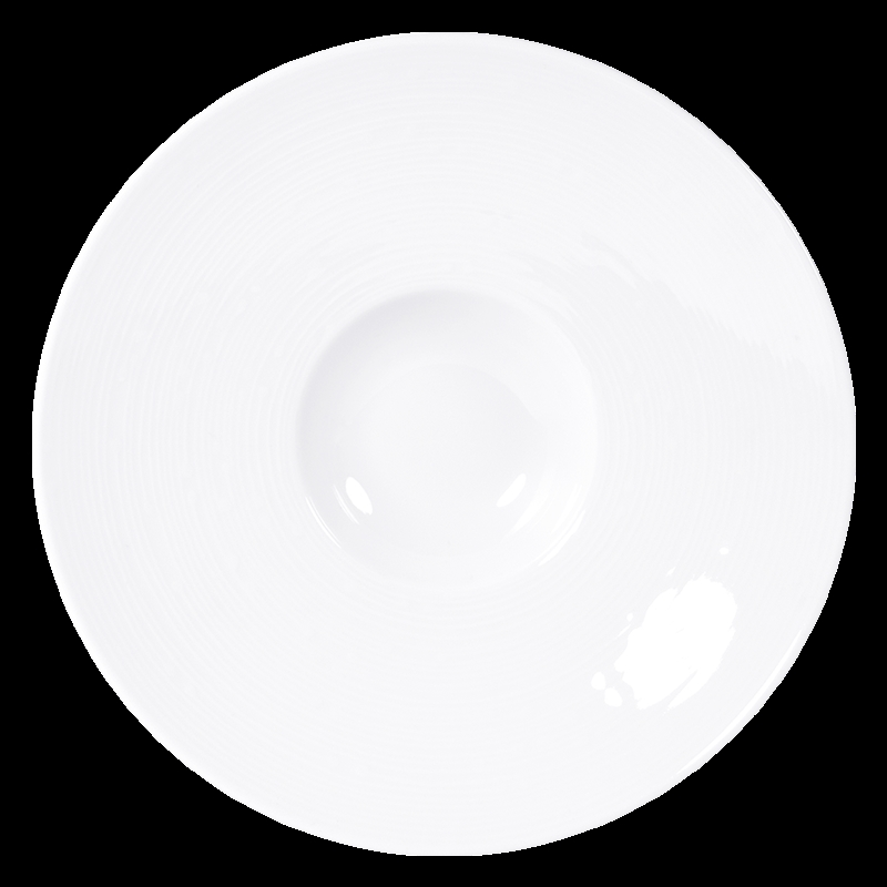 Bernardaud Fusion White Pacific Coupe - 9 In