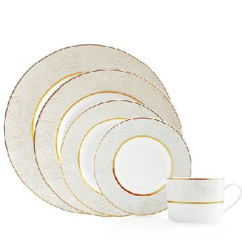 Bernardaud Sauvage White Gold Dinnerware