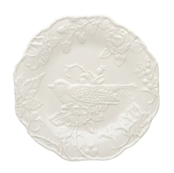 Bordallo Pinheiro Artichoke and Bird Plate with Robin 25,5