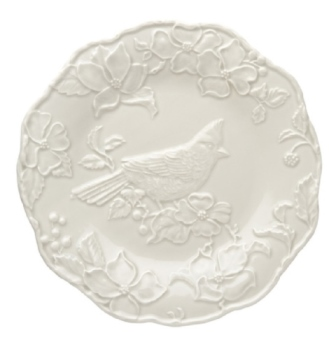 Bordallo Pinheiro Artichoke and Bird Plate with Cardinal 25,5