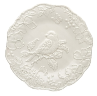 Bordallo Pinheiro Artichoke and Bird Plate With Bluebird 25,5