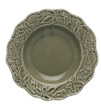 Bordallo Pinheiro Artichoke and Bird Soup Plate 24