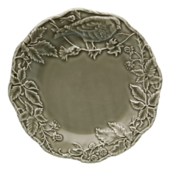 Bordallo Pinheiro Artichoke and Bird Fruit Plate 22