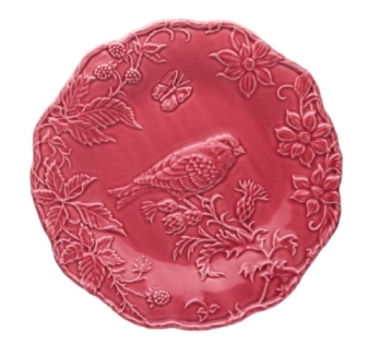 Bordallo Pinheiro Artichoke and Bird Plate 25,5 GoldFish