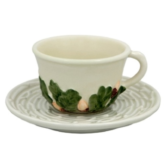 Bordallo Pinheiro Acorns Coffee Cup and Saucer