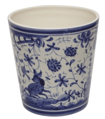 CASAFINA BATH - 17TH CENTURY WASTE BASKET, BLUE/WHTE