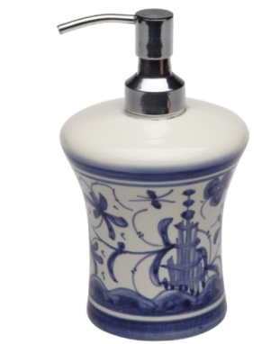 CASAFINA BATH - 17TH CENTURY LOTION PUMP,BL/WH
