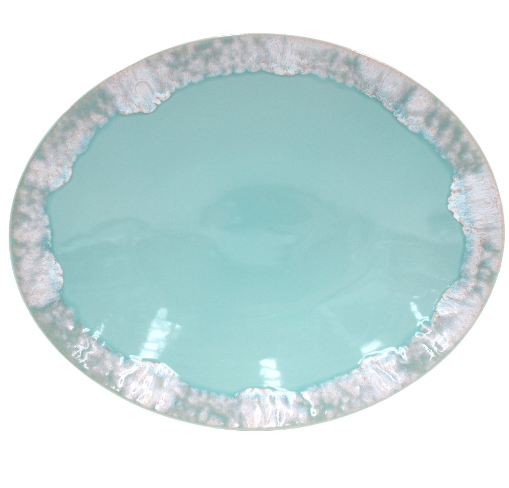 Casa Stone By Casafina casafina taormina oval platter aqua