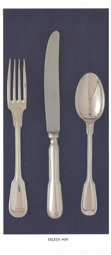 Chambly Filets 5 piece placesetting -PS, Silverplate