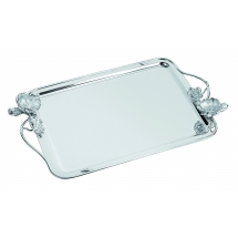 Christofle ANEMONE Rectangular Tray with Handles Silverplate