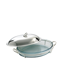 Christofle VERTIGO Cover for Oval Bake & Serve Silverplate