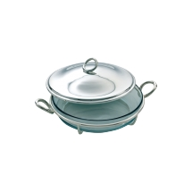 Christofle VERTIGO Round Bake & Serve Silverplate