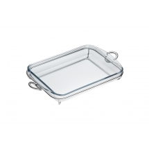 Christofle VERTIGO Rectangular Bake & Serve Silverplate