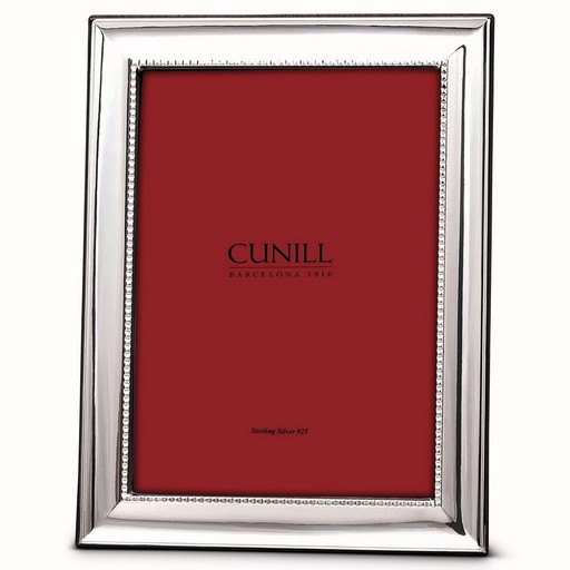 Cunill Sterling Silver Classic Groove 5x7 Frame