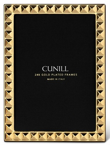 Cunill 24K Gold Plated Diamonds 4x6 Frame