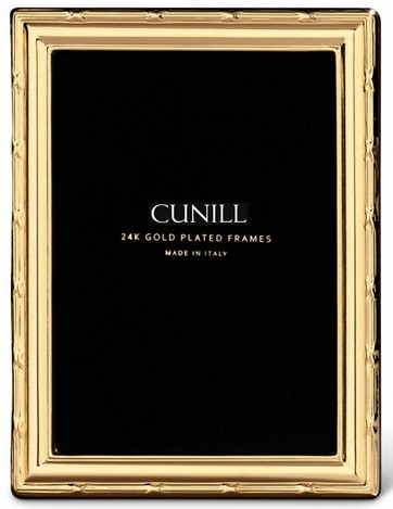 Cunill 24K Gold Plated Ribbon 4x6 Frame
