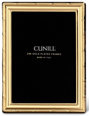 Cunill 24K Gold Plated Ribbon 5x7 Frame