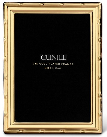 Cunill 24K Gold Plated Ribbon 8x10 Frame