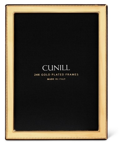 Cunill 24K Gold Plated Bead  4x6 Frame