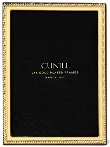 Cunill 24K Gold Plated Rope Narrow 8x10 Frame