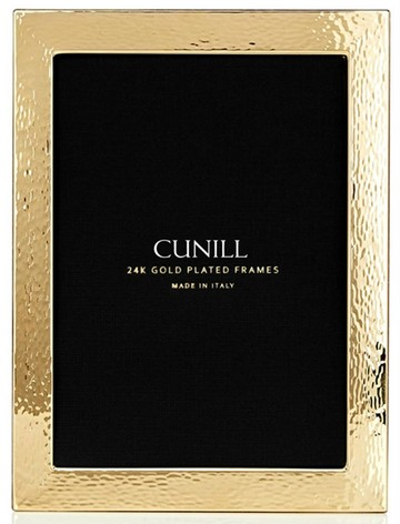 Cunill 24K Gold Plated Hammered 8x10 Frame