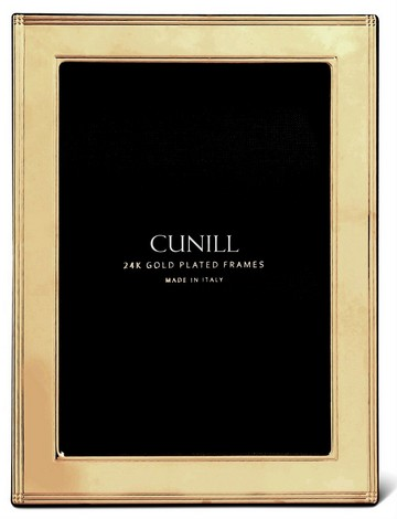Cunill 24K Gold Plated Madison 4x6 Frame