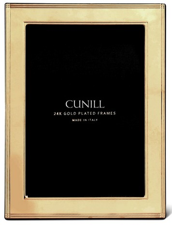 Cunill 24K Gold Plated Madison 5x7 Frame