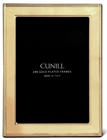 Cunill 24K Gold Plated Madison 8x10 Frame