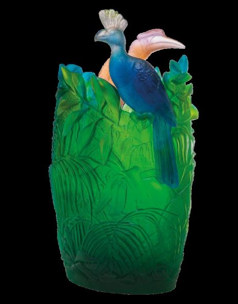 Daum  Jungle Oval Vase  24.8 in. 99 edition limit