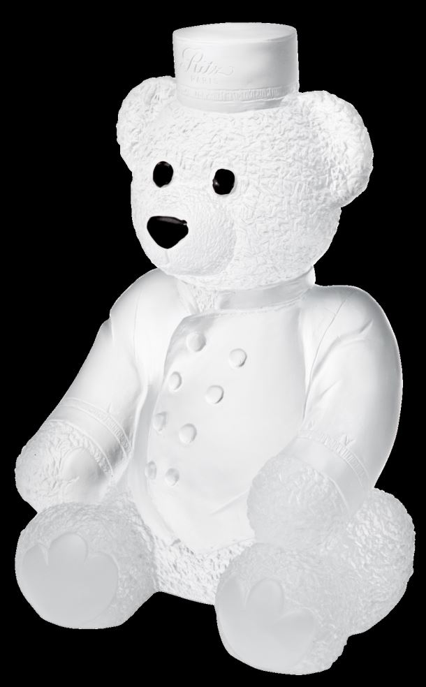 Daum  Ritzarge white Paris teddy  11.6 in.