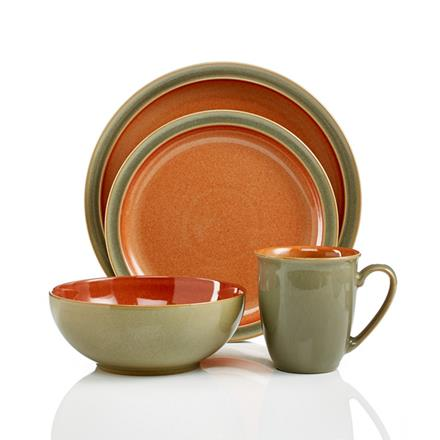 Denby Duets Duet Sage & Paprika 4 pc boxed set