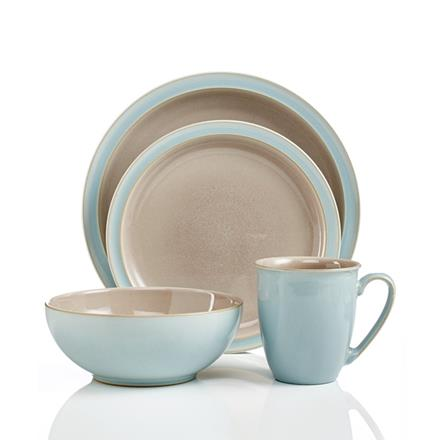 Denby Duets Duet Taupe & Blue 4 pc boxed set