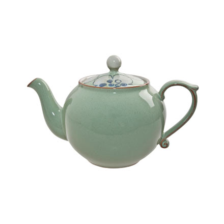 Denby Heritage Orchard Green Teapot